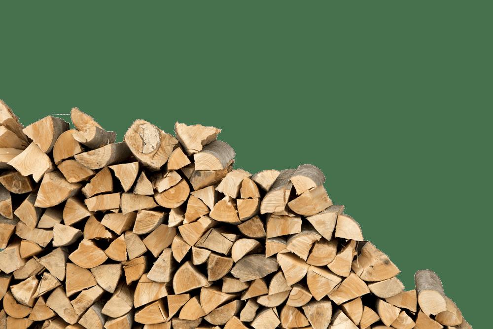 Naštípané špalky dřeva